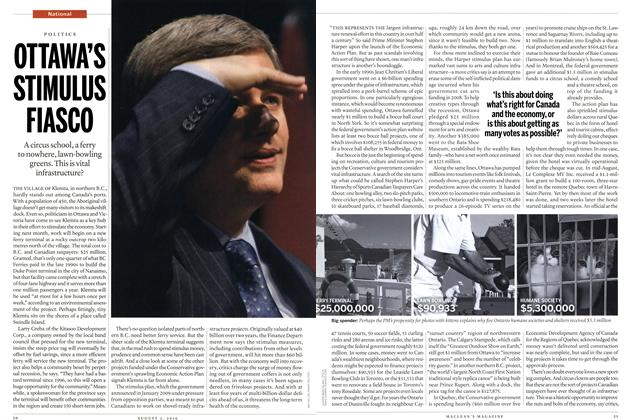 Article Preview: OTTAWA'S STIMULUS FIASCO, August 2010 | Maclean's