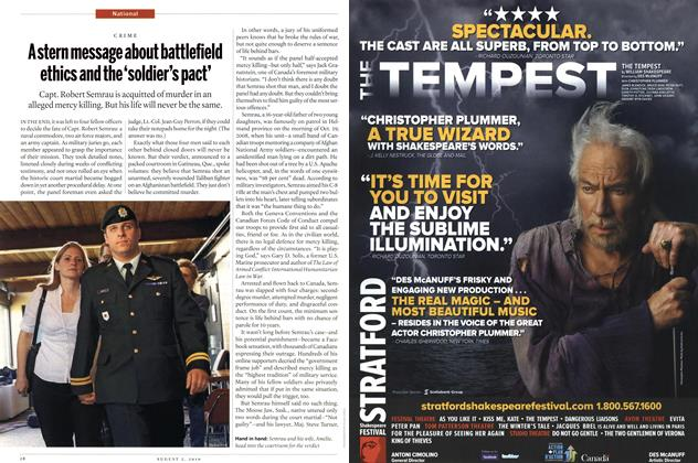 Article Preview: Astern message about battlefield ethics and the 'soldier's pact', August 2nd 2010 | Maclean's