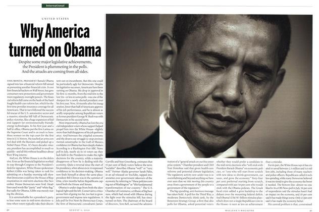 Article Preview: Why America turned on Obama, August 2010 | Maclean's
