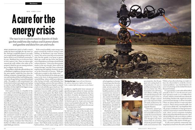 Article Preview: Acure forthe energy crisis, August 2nd 2010 | Maclean's