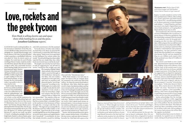 Article Preview: Love, rockets and the geek tycoon, August 2010 | Maclean's