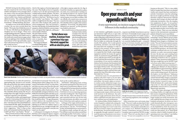 Article Preview: Open your mouth and your appendix will follow, August 2nd 2010 | Maclean's