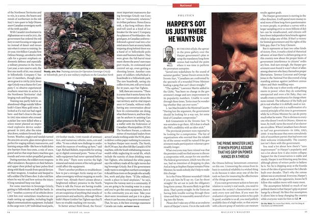 Article Preview: HARPER'S GOT US JUST WHERE HE WANTS US, August 16th 2010 | Maclean's