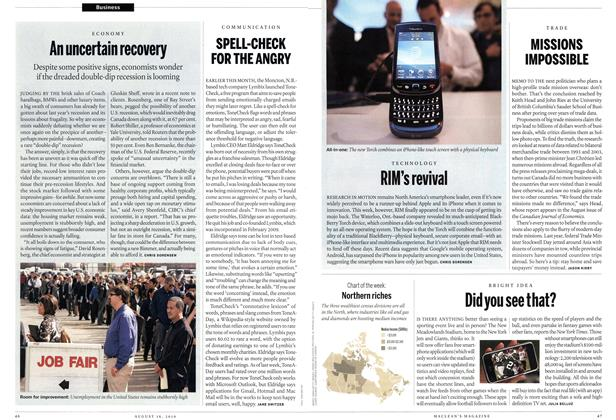 Article Preview: RIM's revival, August 16th 2010 | Maclean's