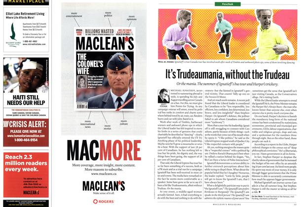 Article Preview: It's Trudeaumania, without the Trudeau, August 16th 2010 | Maclean's