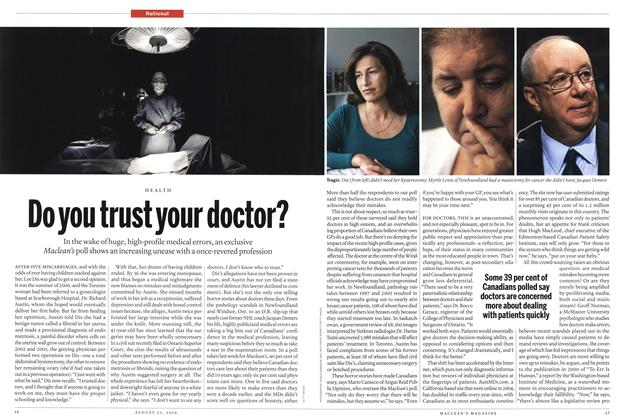 Article Preview: Do you trust your doctor?, August 23rd 2010 | Maclean's