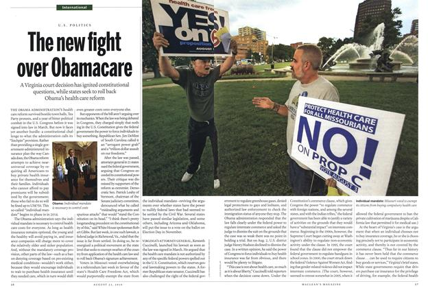 Article Preview: The new fight over Obamacare, August 23rd 2010 | Maclean's