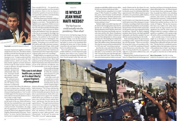 Article Preview: IS WYCLEF JEAN WHAT HAITI NEEDS?, August 2010 | Maclean's