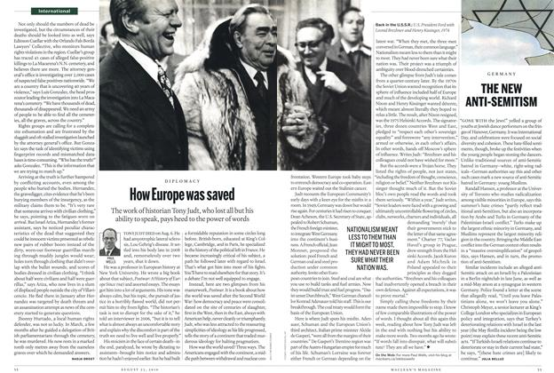 Article Preview: How Europe was saved, August 23rd 2010 | Maclean's