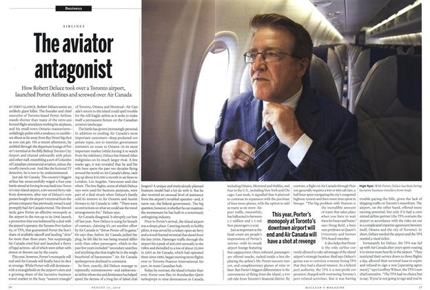 Article Preview: The aviator antagonist, August 2010 | Maclean's