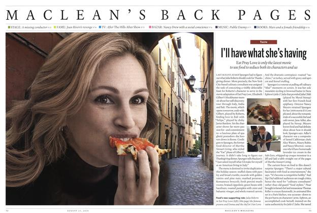 Article Preview: I'll have what she's having, August 2010 | Maclean's