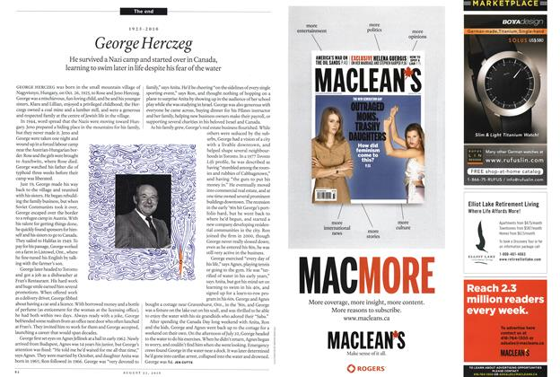 Article Preview: 1925-2010 George Herczeg, August 23rd 2010 | Maclean's