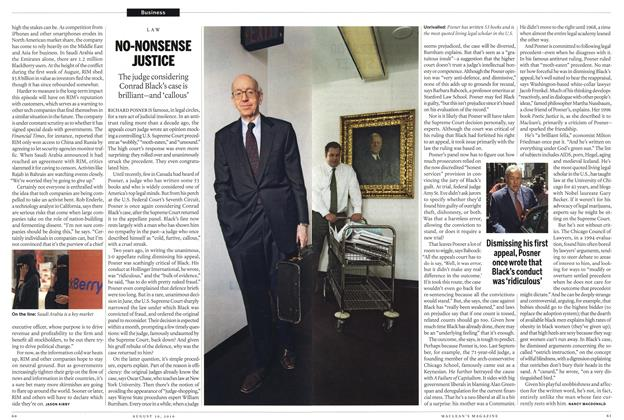 Article Preview: NO-NONSENSE JUSTICE, August 30th 2010 | Maclean's