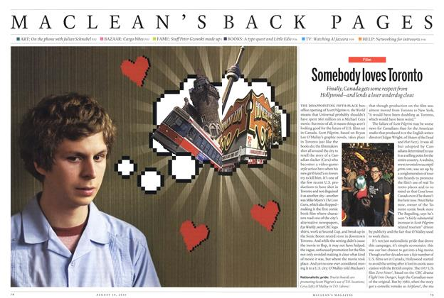 Article Preview: Somebody loves Toronto, August 30th 2010 | Maclean's