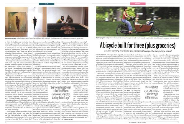 Article Preview: A bicycle built for three (plus groceries), August 30th 2010 | Maclean's