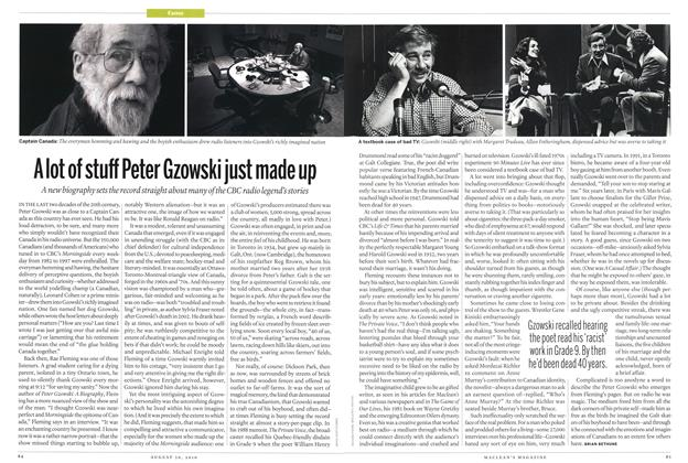 Article Preview: A lot of stuff Peter Gzowski just made up, August 30th 2010 | Maclean's