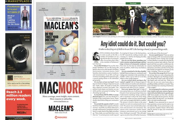 Article Preview: Any idiot could do it. But could you?, August 30th 2010 | Maclean's