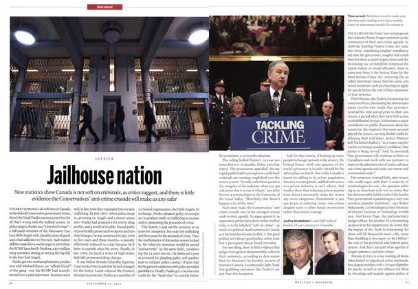 Article Preview: Jailhouse nation, September 13th 2010 | Maclean's