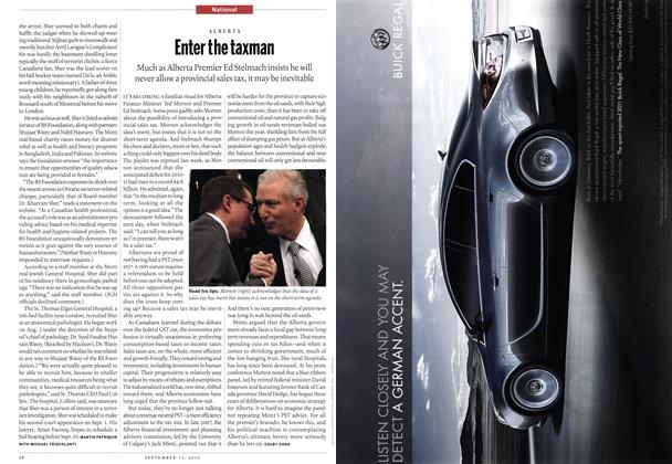 Article Preview: Enter the taxman, September 13th 2010 | Maclean's