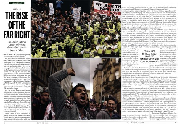 Article Preview: THE RISE OF THE FAR RIGHT, September 13th 2010 | Maclean's