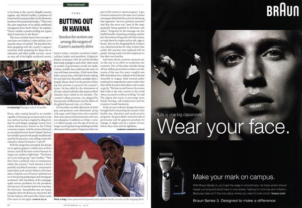 Article Preview: BUTTING OUT IN HAVANA, September 13th 2010 | Maclean's
