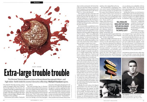 Article Preview: Extra-large trouble trouble, September 13th 2010 | Maclean's