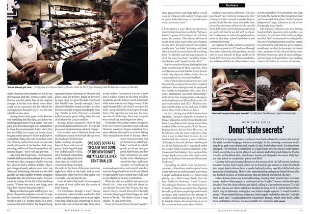 Article Preview: Donut 'state secrets', September 13th 2010 | Maclean's