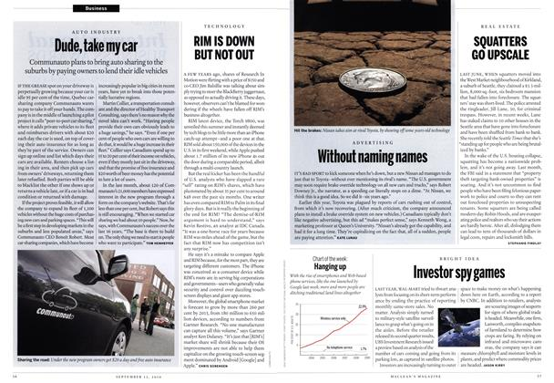 Article Preview: RIM IS DOWN BUT NOT OUT, September 2010 | Maclean's
