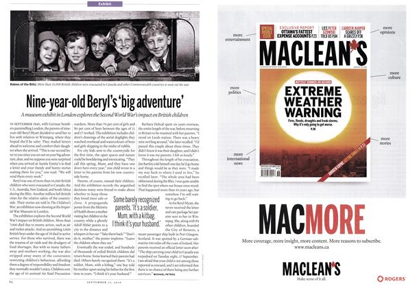 Article Preview: Nine-year-old Beryl's 'big adventure', September 13th 2010 | Maclean's