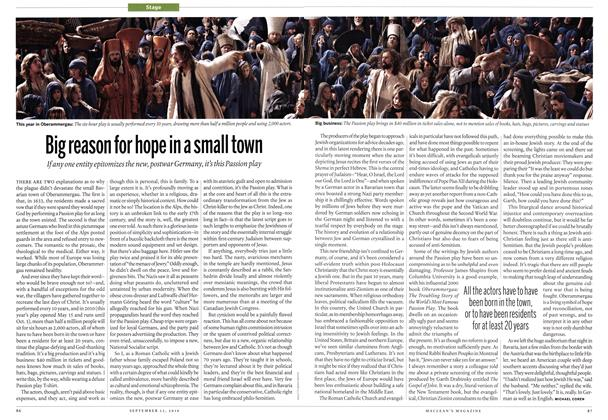 Article Preview: Big reason for hope in a small town, September 13th 2010 | Maclean's