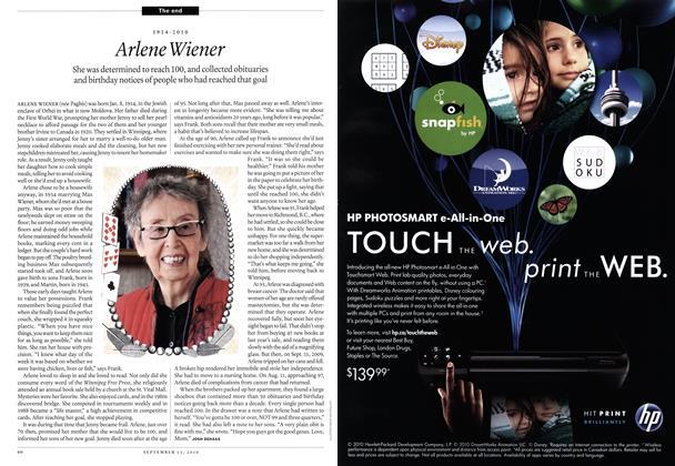 Article Preview: Arlene Wiener, September 2010 | Maclean's