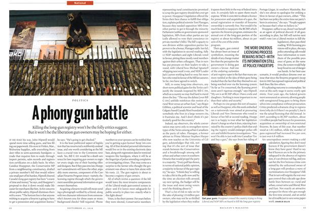 Article Preview: A phony gun battle, September 20th 2010 | Maclean's