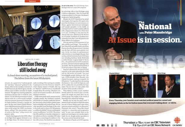 Article Preview: Liberation therapy still locked away, September 20th 2010 | Maclean's