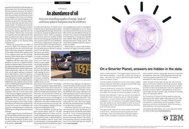 Article Preview: An abundance of oil, September 20th 2010 | Maclean's