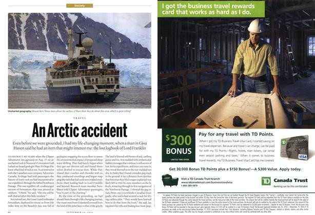 Article Preview: An Arctic accident, September 20th 2010 | Maclean's