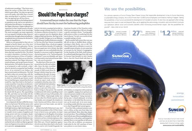 Article Preview: Should the Pope face charges?, September 20th 2010 | Maclean's