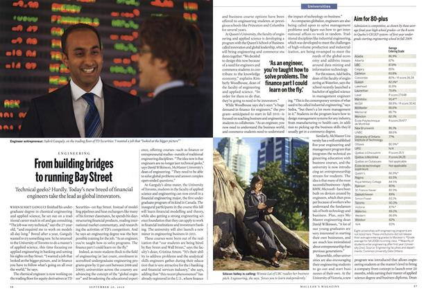Article Preview: From building bridges to running Bay Street, September 20th 2010 | Maclean's