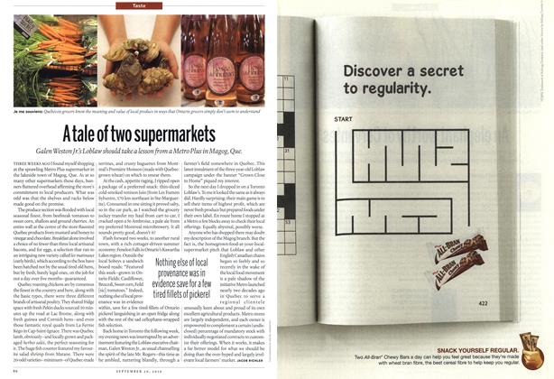 Article Preview: A tale of two supermarkets, September 20th 2010 | Maclean's