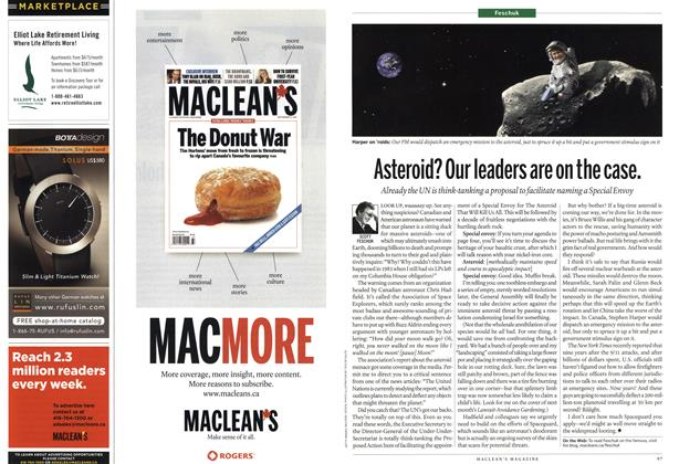 Article Preview: Asteroid? Our leaders are on the case., September 20th 2010 | Maclean's
