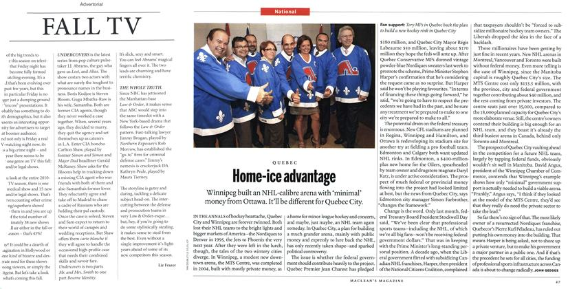 Article Preview: Home-ice advantage, September 27th 2010 | Maclean's
