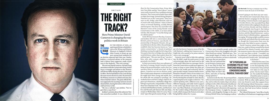 Article Preview: THE RIGHT TRACK?, September 27th 2010 | Maclean's