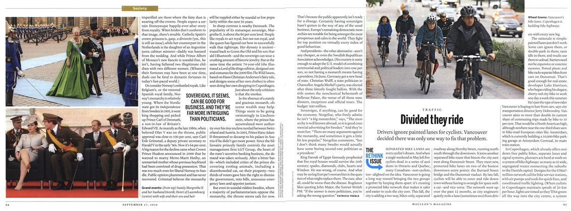 Article Preview: Divided they ride, September 2010 | Maclean's