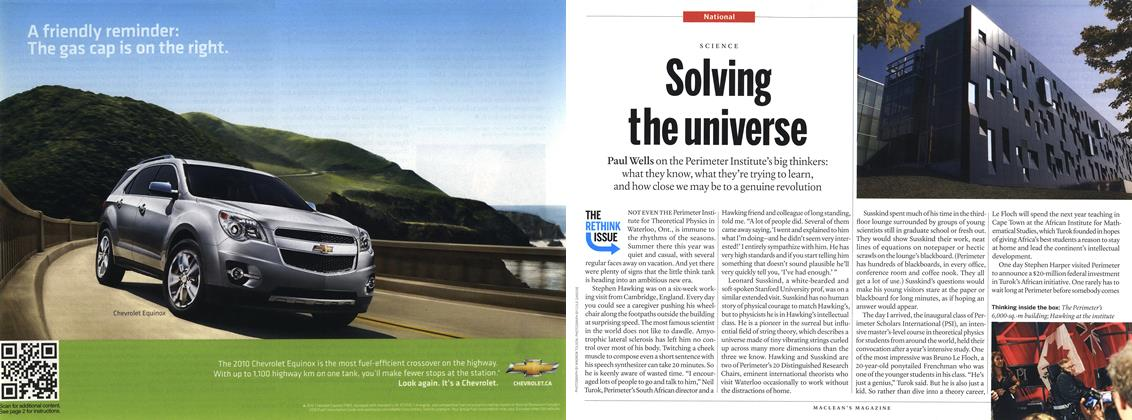 Article Preview: Solving the universe, September 2010 | Maclean's