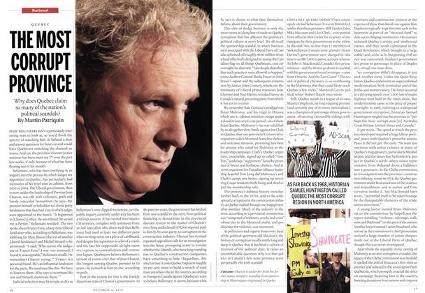 Article Preview: THE MOST CORRUPT PROVINCE, October 2010 | Maclean's