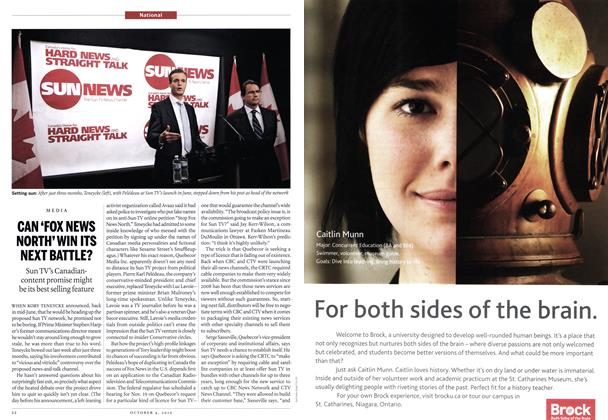 Article Preview: CAN 'FOX NEWS NORTH' WIN ITS NEXT BATTLE?, October 2010 | Maclean's