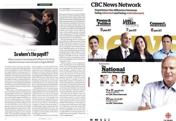 Article Preview: So where's the payoff?, October 4th 2010 | Maclean's