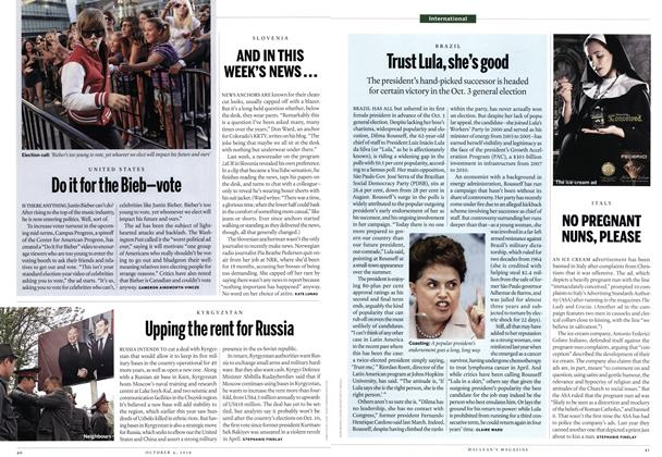 Article Preview: AND IN THIS WEEK'S NEWS..., October 4th 2010 | Maclean's