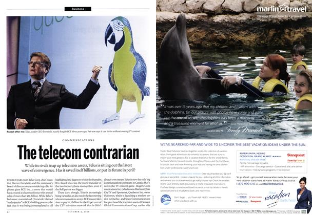 Article Preview: The telecom contrarian, October 4th 2010 | Maclean's