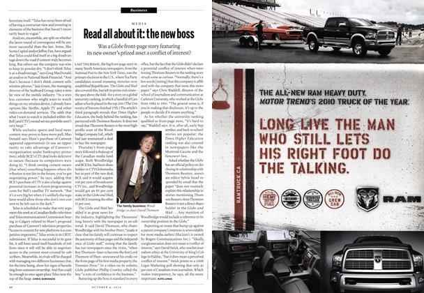 Article Preview: Read all about it: the new boss, October 4th 2010 | Maclean's