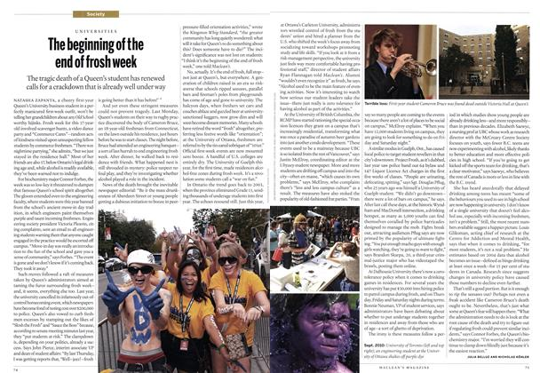 Article Preview: The beginning of the end of frosh week, October 2010 | Maclean's